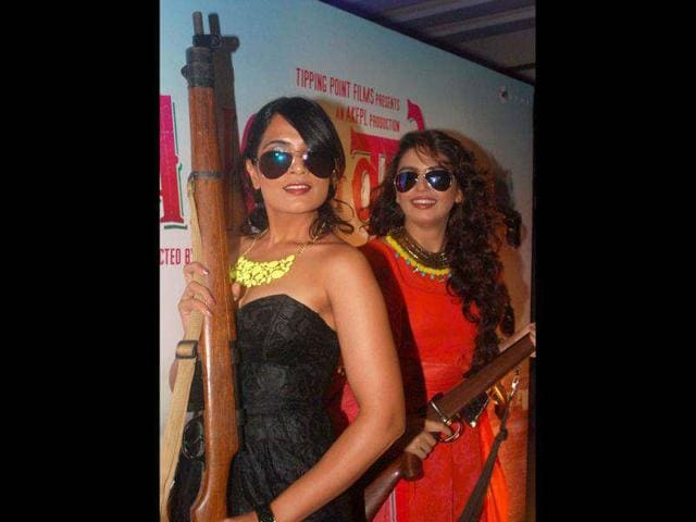 Richa Chadda and Huma Qureshi pose for the camera.