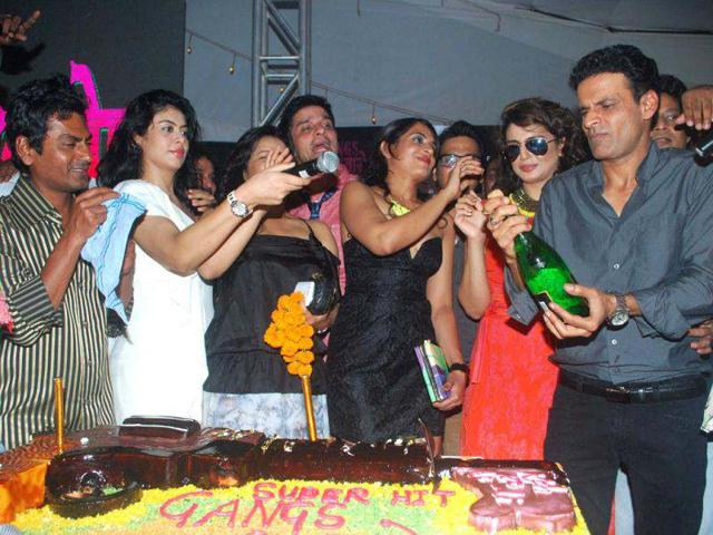 Gangs of Wasseypur team celebrate the film