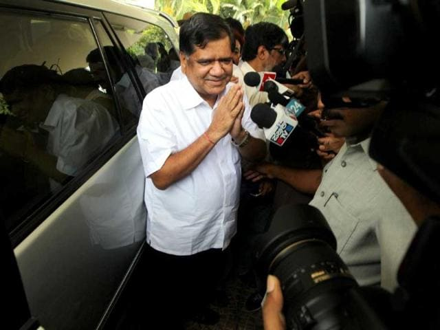 Newly-appointed-Karnataka-chief-minister-Jagadish-Shettar-comes-out-of-his-residence-after-a-meeting-with-his-colleagues-in-Bengaluru-PTI-Shailendra-Bhojak