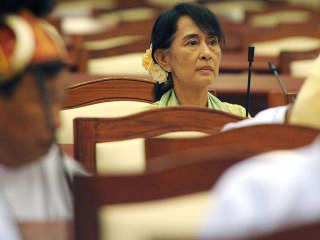 Myanmar's Suu Kyi makes parliamentary debut