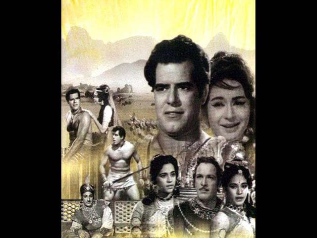 A poster from the movie Aaya Toofan.