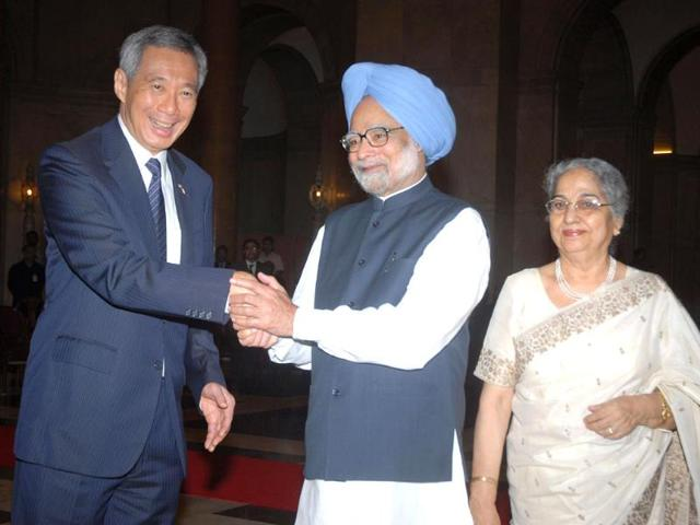India,New Delhi,Singapore Prime Minister Lee Hsien Loong