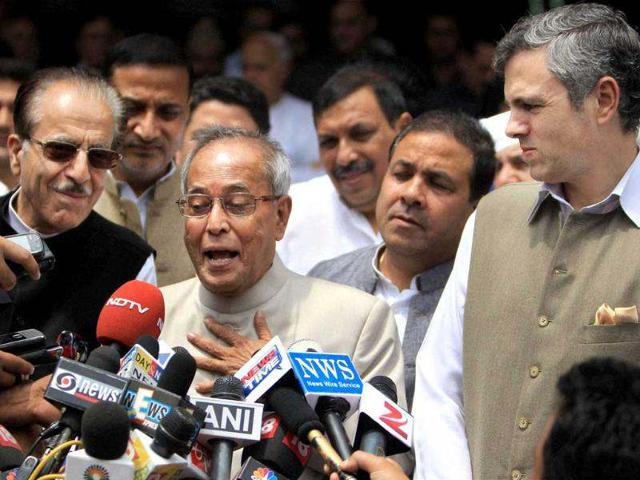Pranab,president-elect,defending the Constitution