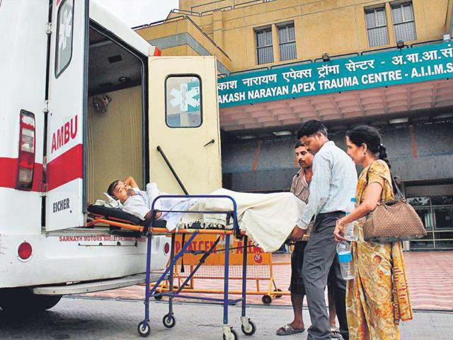 Chavinath-Singh-Gangwal-was-turned-away-when-he-arrived-at-the-trauma-centre-having-paid-Rs-10-000-to-a-private-ambulance-to-bring-him-to-Delhi-from-Bareilly-Sunil-Saxena-HT-Photo
