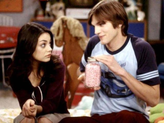Ashton-Kutcher-and-Mila-Kunis-played-high-school-sweethearts-in-That-70s-Show