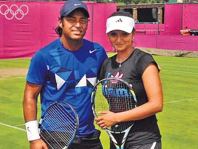 Sania-Mirza-and-Leander-Paes-after-the-end-of-the-practice-session-in-London-HT-photo