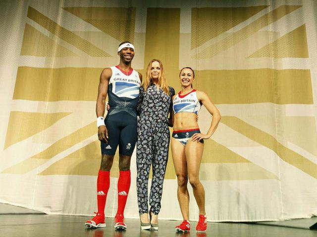 Triple-jumper-Phillips-Idowu-L-and-heptathlete-Jessica-Ennis-pose-wearing-the-new-Team-GB-kits-designed-by-British-designer-Stella-McCartney-C-for-the-London-2012-Olympic-Games-at-a-media-viewing-in-London-Reuters-Andrew-Winning