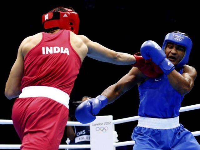 boxing,olympics,Akhil Kumar