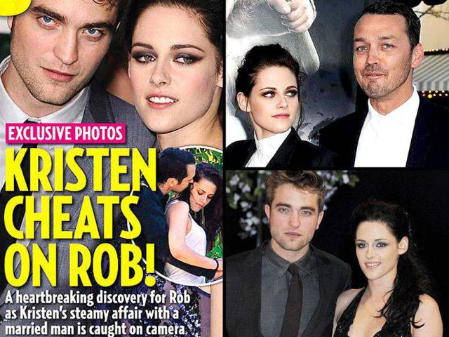 Kristen Stewart cheated on beau Robert Pattinson with Snow White and the Huntsman director Rupert Sanders - who is married and has two children.