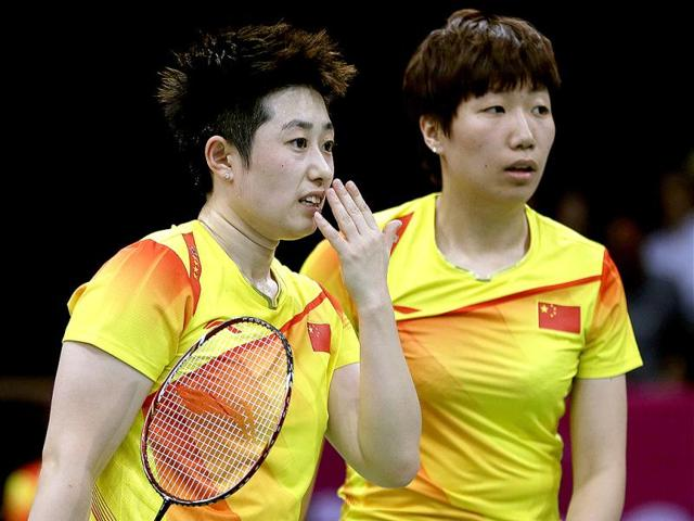 China-s-Yu-Yang-left-and-Wang-Xiaoli-talk-while-playing-against-Jung-Kyun-eun-and-Kim-Ha-na-of-South-Korea-in-a-women-s-doubles-badminton-match-at-the-2012-Summer-Olympics-in-London-AP-Photo-Andres-Leighton