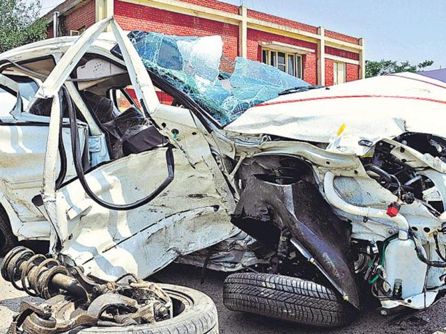 road accident,six killed,injured