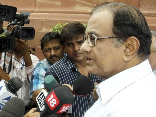 Finance-minister-P-Chidambaram-leaves-after-attending-the-first-day-of-the-monsoon-session-of-Parliament-in-New-Delhi-HT-Sonu-Mehta