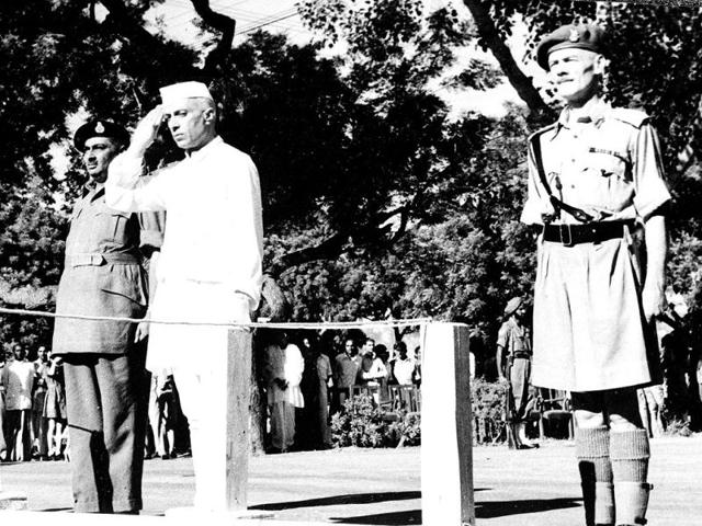 Jawaharlal-Nehru-salutes-the-flag-as-he-becomes-independent-India-s-first-prime-minister-on-August-15-1947-during-the-Independence-Day-ceremony-at-Red-Fort-New-Delhi-India-See-more-unseen-pictures-from-August-15-1947-and-experience-the-same-joy-that-we-did-back-then