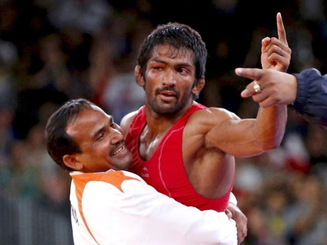 Yogeshwar-Dutt-R-is-declared-the-winner-after-defeating-North-Korea-s-Ri-Jong-Myong-in-their-Men-s-60kg-Freestyle-bronze-medal-match-during-the-wrestling-event-of-the-London-2012-Olympic-Games-AFP-Marwan-Naaman