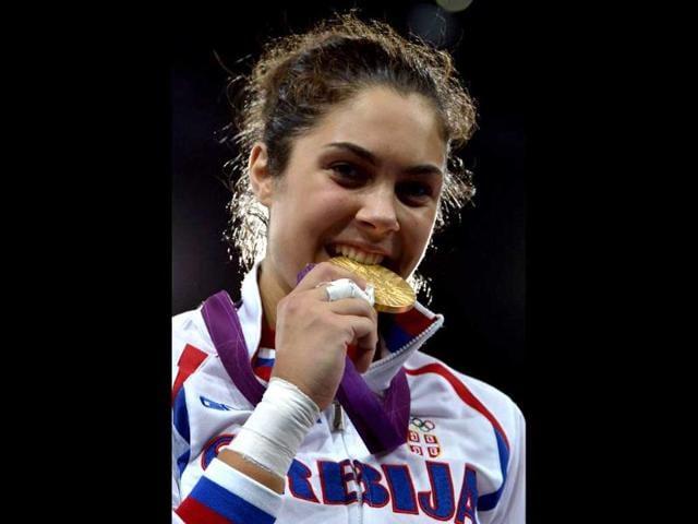 Milica Mandic,Serbia's debut gold,London olympics