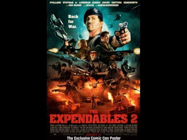 Sylvester Stallone,The Expendables 2,The Bourne Legacy