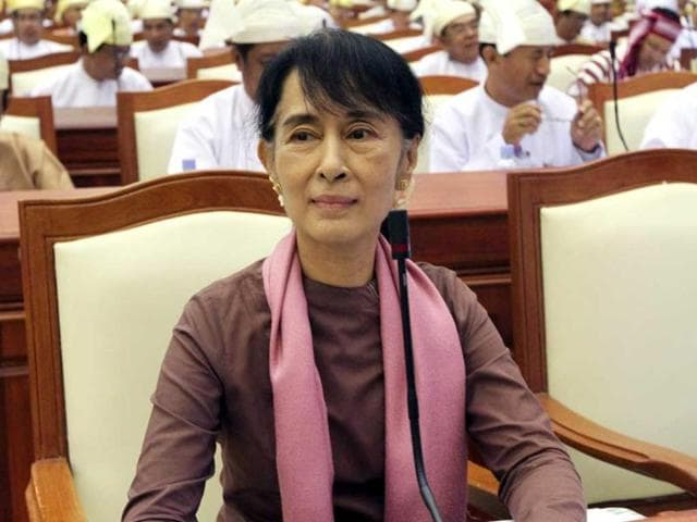 Myanmar-s-opposition-leader-Aung-San-Suu-Kyi-attends-a-regular-session-of-the-parliament-at-Myanmar-lower-house-at-Naypyitaw-Myanmar-AP-Khin-Maung-Win