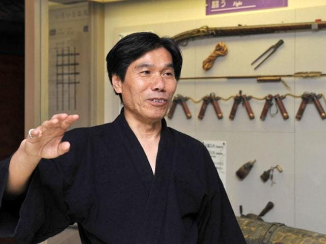 This-photo-taken-on-June-29-2012-shows-Jinichi-Kawakami-known-as-the-last-ninja-at-the-Iga-Ninja-Museum-AFP-Photo-Files-Kazuhiro-Nogi