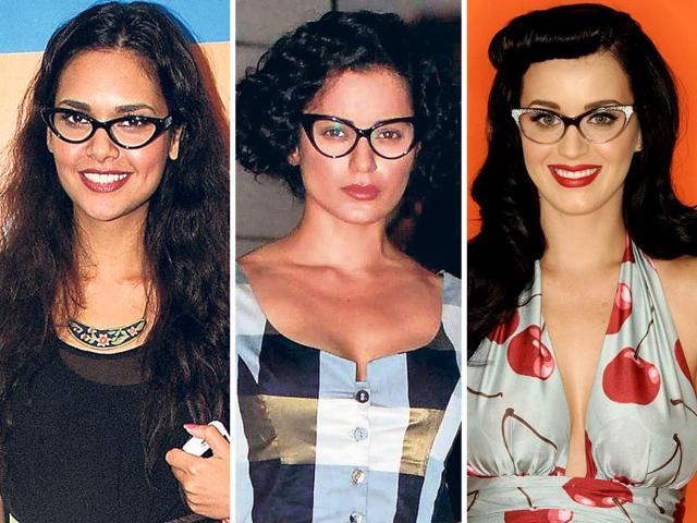 HOT TREND: Celebs in cat eye glasses