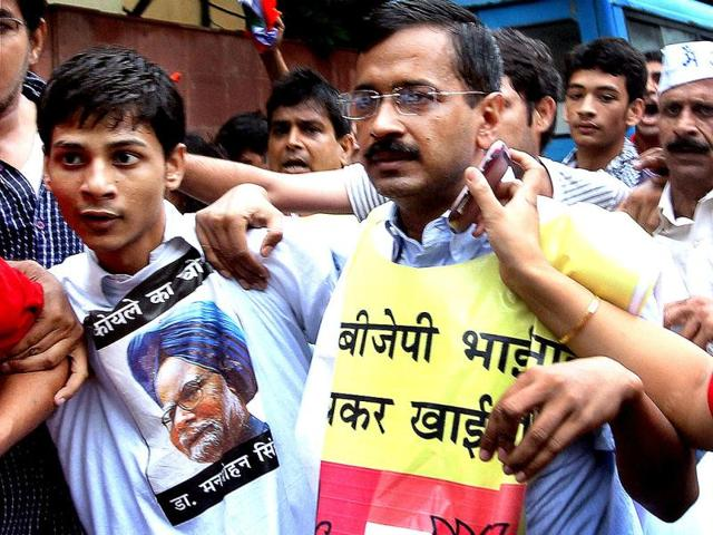 Erstwhile Team Anna members march towards PM's residence,Arvind Kejriwal,Prime Minister Manmohan Singh