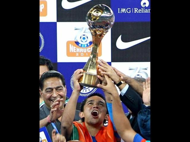 India-s-captain-Sunil-Chhetri-11-gestures-after-scoring-team-s-2nd-goal-agianst-Cameroon-during-Nehru-cup-final-match-in-New-Delhi-PTI-Photo-by-Vijay-Verma