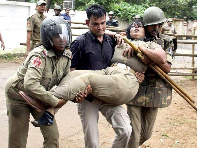 34 arrested for Odisha violence, assaulting woman cop