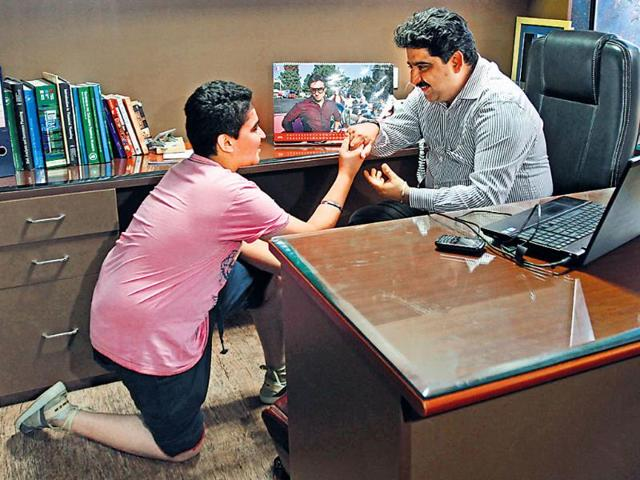Pankaj-Sidana-who-runs-a-financial-advisory-firm-and-does-bit-roles-in-films-has-introduced-his-son-Rachit-to-the-world-of-acting-Jasjeet-Plaha-HT-Photo