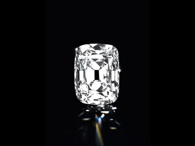 The-Archduke-Joseph-Diamond-an-unmounted-cushion-shaped-Golconda-diamond-weighing-76-02-carats-with-a-D-colour-and-internally-flawless-clarity-is-seen-in--this-photograph-Reuters