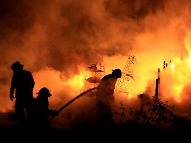 psychiatric hospital,fire,Russia