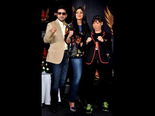 Mary Kom,Shilpa Shetty,Raj and Shilpa