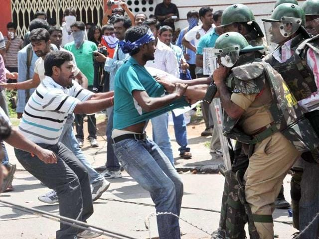 telangana,Osmania University,Telangana protests