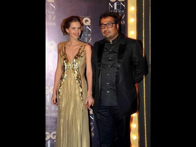 Kalki-Koechlin-L-poses-with-her-husband-director-Anurag-Kashyap-who-received-the-Best-Director-award-during-the-GQ-Men-of-the-Year-Awards-2012-AFP