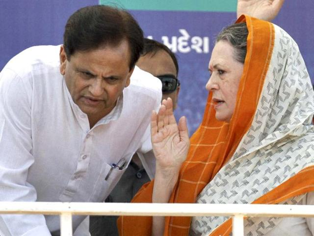 A-file-photo-of-Ahmed-Patel-with-Congress-president-Sonia-Gandhi-at-an-election-campaign-rally-in-Rajkot-PTI-photo
