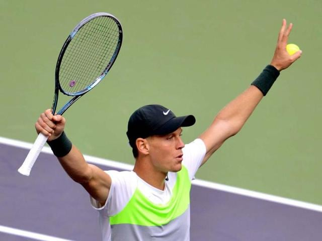 Tomas-Berdych-of-the-Czech-Republic-celebrates-after-defeating-Jo-Wilfried-Tsonga-of-France-during-their-quarterfinal-match-at-the-Shanghai-Masters-tennis-tournament-in-Shanghai-Berdych-won-6-3-7-6-AFP-photo-Mark-Ralston