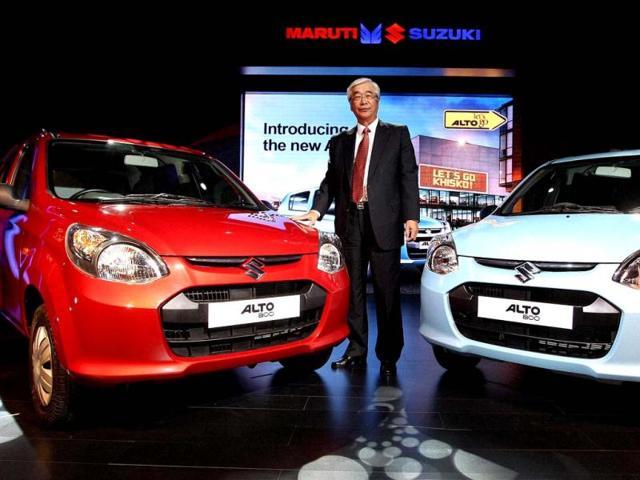 Shinzo Nakanishi, Managing Director and CEO of Maruti Suzuki India during the launch of the company's new 'Alto 800' in New Delhi. (PTI Photo by Vijay Kumar Joshi)
