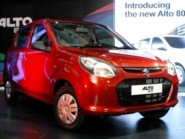 Maruti Suzuki India's newly launched 'Alto 800' in New Delhi. (Photo by Sunil Saxena / Hindustan Times)