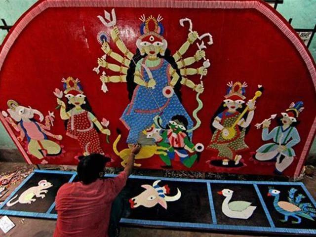 Devi Durga idol,Suruchi Sangha,Goa