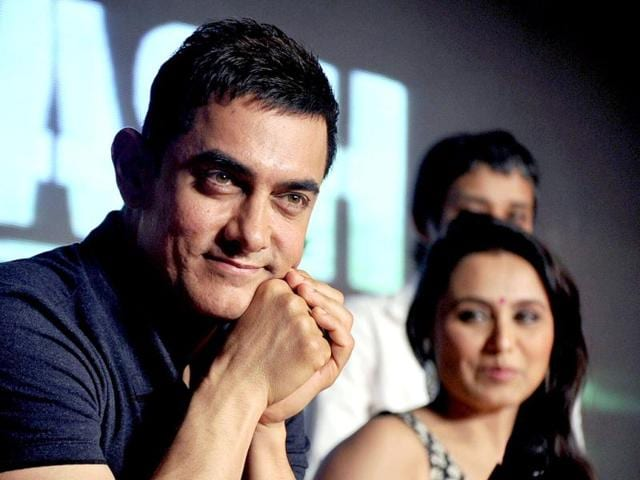 Bollywood-actor-Aamir-Khan--and-actress-Rani-Mukerji-at-the-music-launch-of-Talaash-AFP