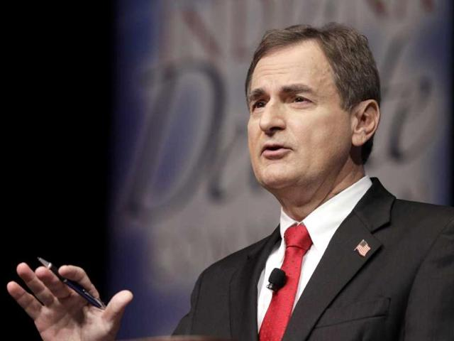 Republican-Richard-Mourdock-candidate-for-Indiana-s-US-Senate-seat-participates-in-a-debate-with-Democrat-Joe-Donnelly-and-Libertarian-Andrew-Horning-in-a-debate-in-New-Albany-AP-Photo