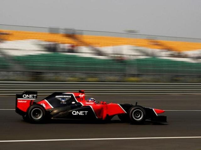 Marussia-Formula-One-driver-Timo-Glock-of-Germany-drives-during-the-first-practice-session-of-the-Indian-F1-Grand-Prix-at-the-Buddh-International-Circuit-in-Greater-Noida-Reuters-Photo