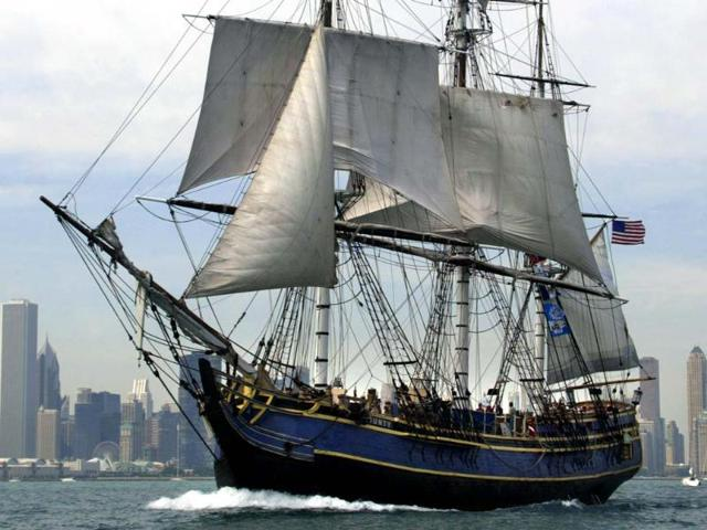 A-file-photo-shows-the-HMS-Bounty-sailing-past-the-Chicago-skyline-The-HMS-Bounty-crew-abandoned-the-ship-due-to-Hurricane-Sandy-the-US-Coast-Guard-announced-AFP-Jeff-Haynes