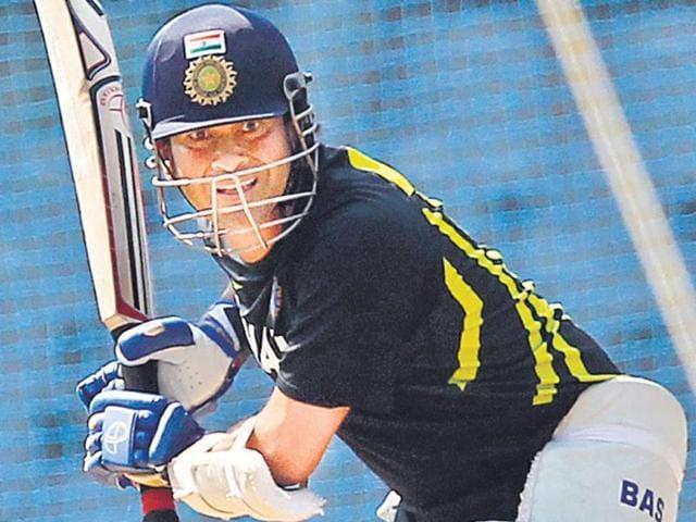 Sachin-Tendulkar-during-Mumbai-s-Ranji-Trophy-practice-session-on-Wednesday-Kunal-Patil-HT-photo