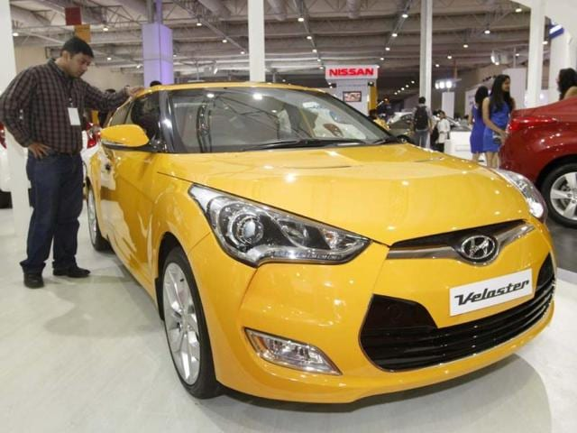 A car displayed during the Auto car Performance show 2012 at Bandra Kurla Complex in Mumbai. HT/Saroj Kumar Dora
