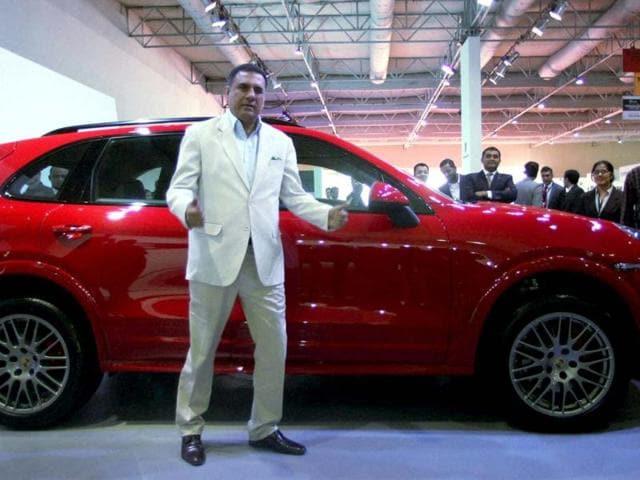 Boman Irani poses during the Auto car Performance show 2012 at Bandra Kurla Complex in Mumbai. HT/Saroj Kumar Dora