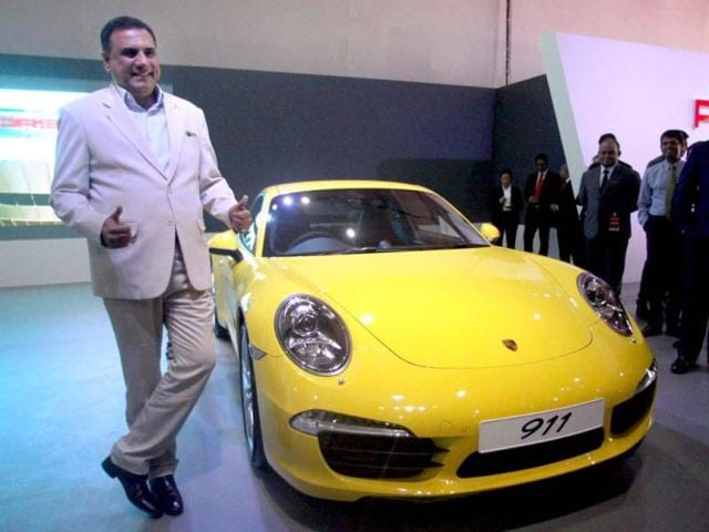 Boman Irani poses during the launch of Autocar Performance Show 2012 in Mumbai. PTI Photo