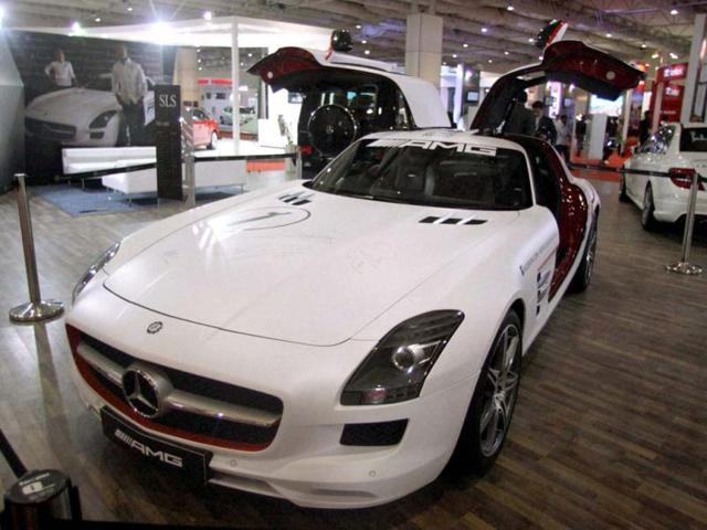 A car kept on display during the Autocar Performance Show 2012 in Mumbai. PTI Photo