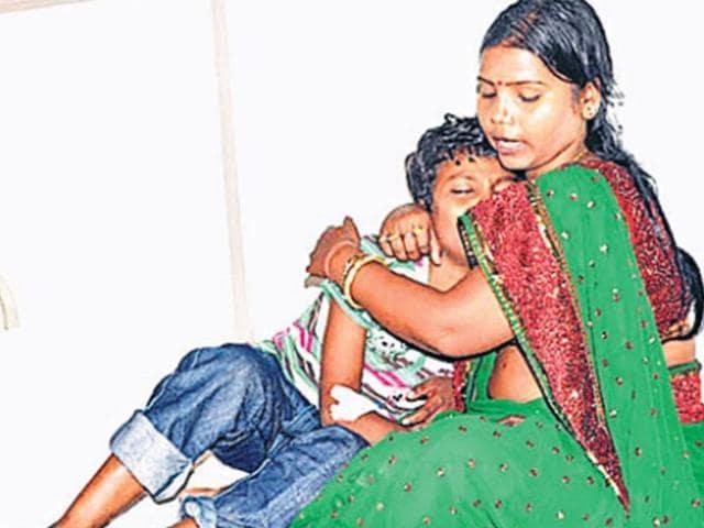 Rupauli-MLA-Bima-Bharti-with-her-son-HT-Photo