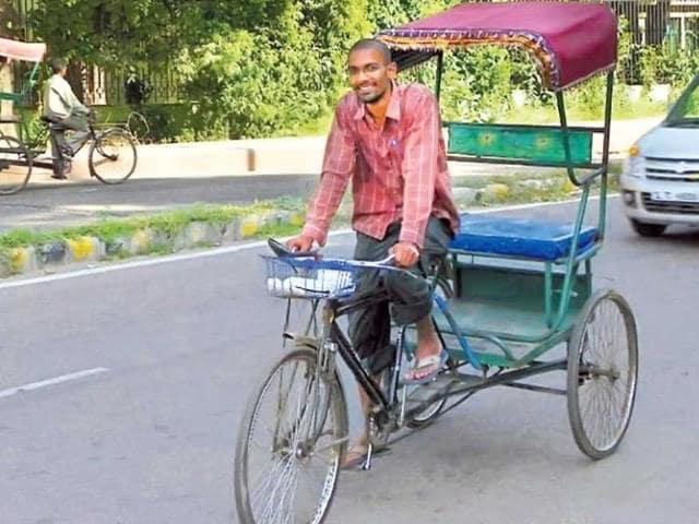 Gaurav-Jain-used-to-rent-a-rickshaw-from-Maurice-Nagar-HT-Photo