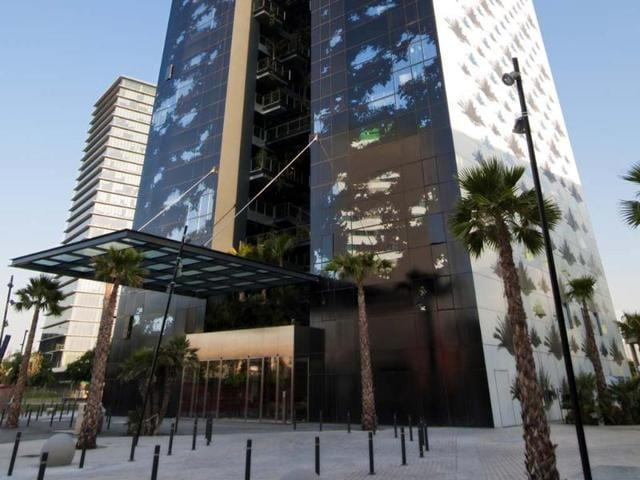 The-Renaissance-Barcelona-Fira-designed-by-architect-Jean-Nouvel-Photo-AFP