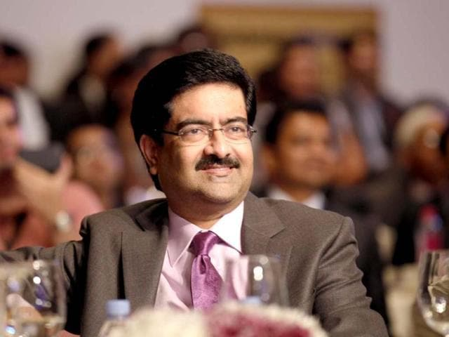 Kumar Mangalam Birla during the first day of the Hindustan Times Leadership Summit in New Delhi. HT/Virendra Singh Gosain